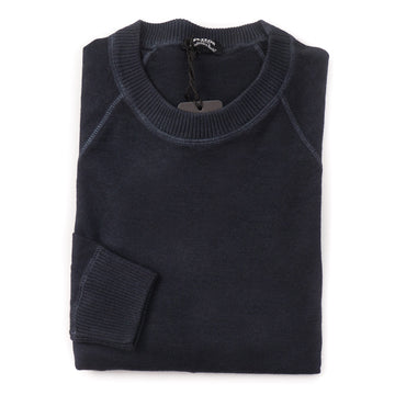 Kiton Cashmere Nuvola Sweater in Midnight Blue