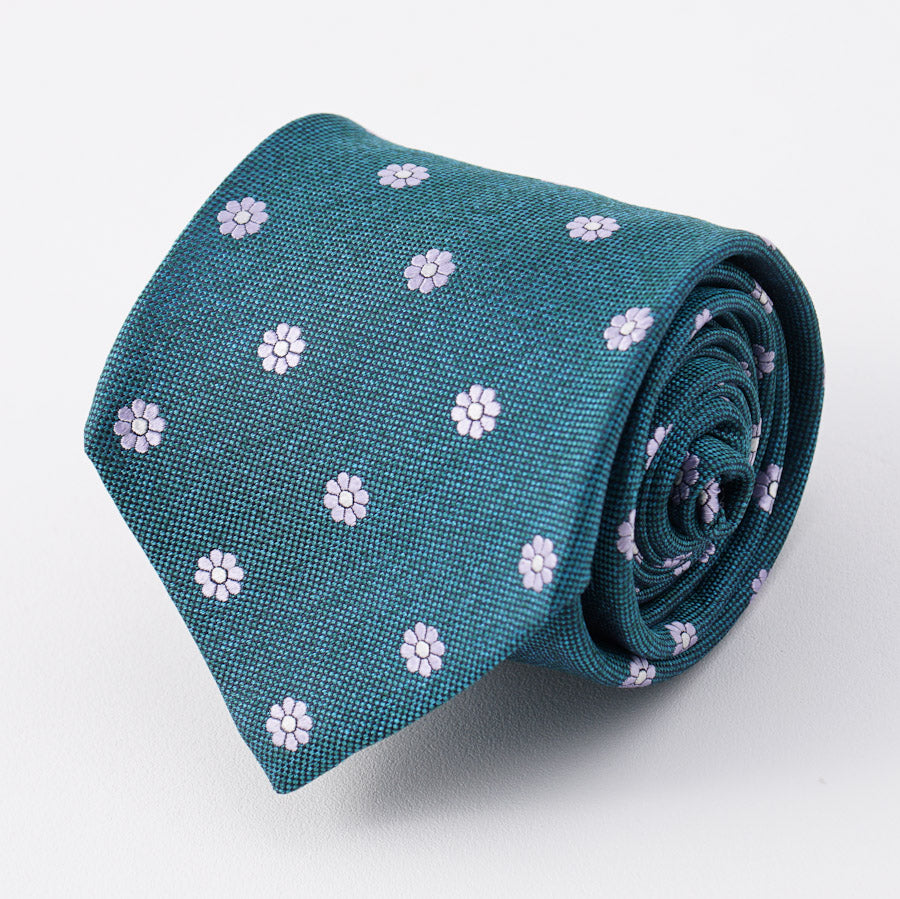 624196ecccdec4 Kiton Peacock Green and Pink Floral Silk Tie – Top Shelf Apparel
