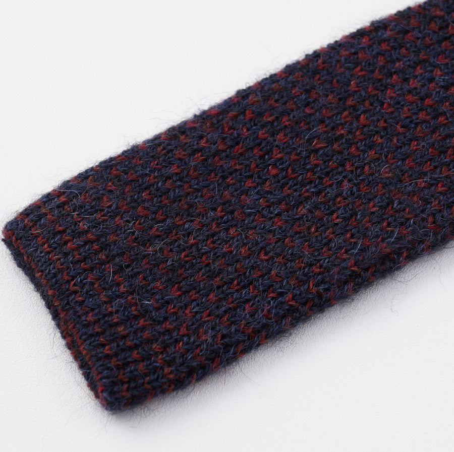 781a542a13116b Kiton Navy-Red Knit Alpaca and Wool Tie – Top Shelf Apparel