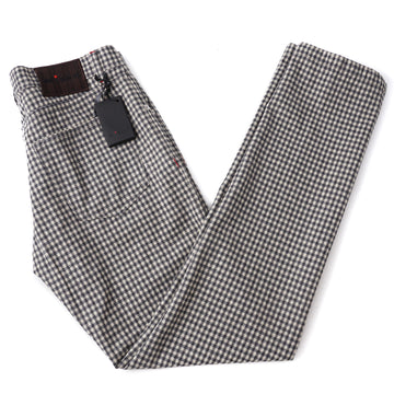 Kiton Slim Fit Five-Pocket Soft Flannel Wool Pants
