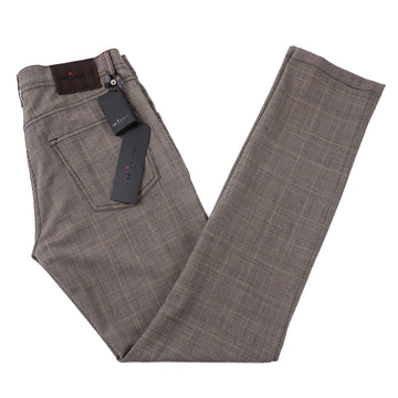 Kiton Slim Fit Five-Pocket Stretch Wool Pants