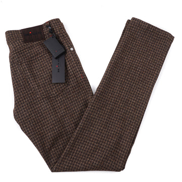 Kiton Slim Fit Five-Pocket Soft Woven Wool Pants