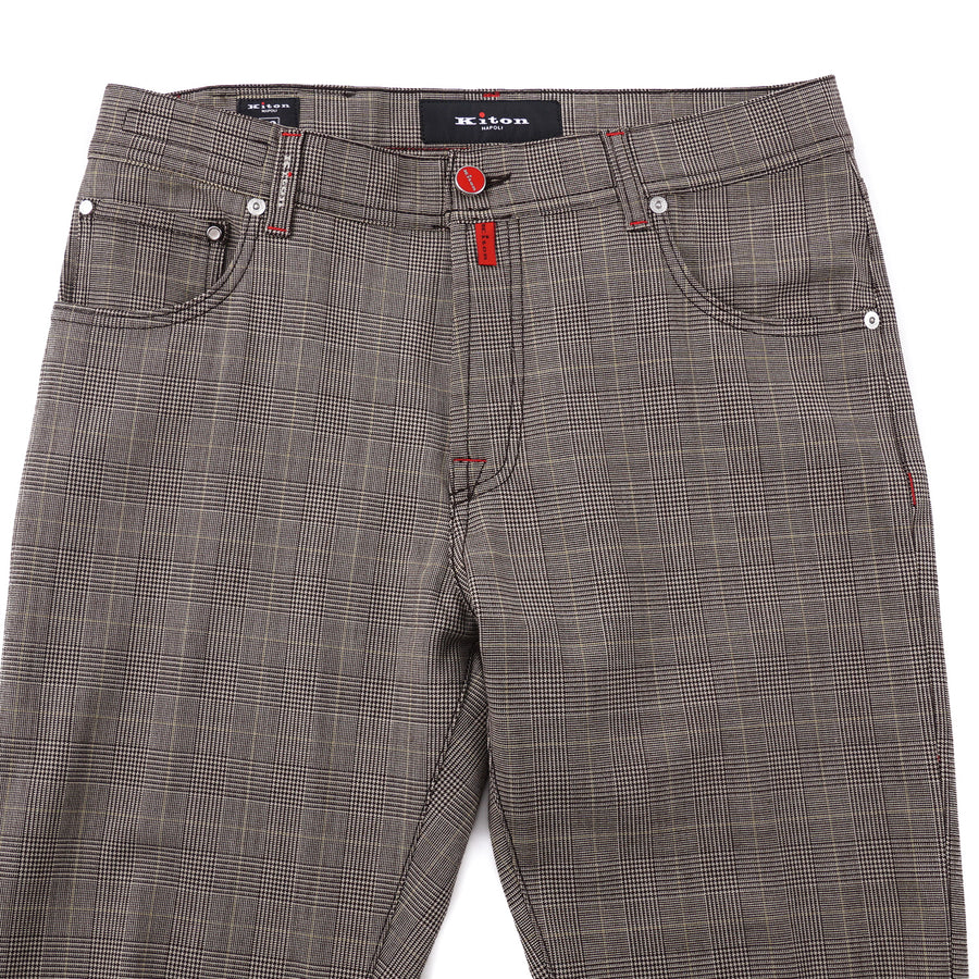 Kiton Slim Fit Five-Pocket Stretch Wool Pants - Top Shelf Apparel