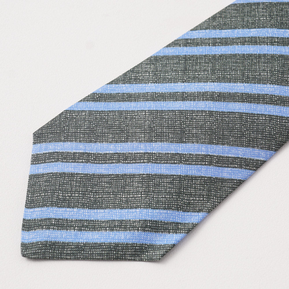 4219d1ce30edc5 Kiton Dark Green and Blue Striped Silk Necktie – Top Shelf Apparel