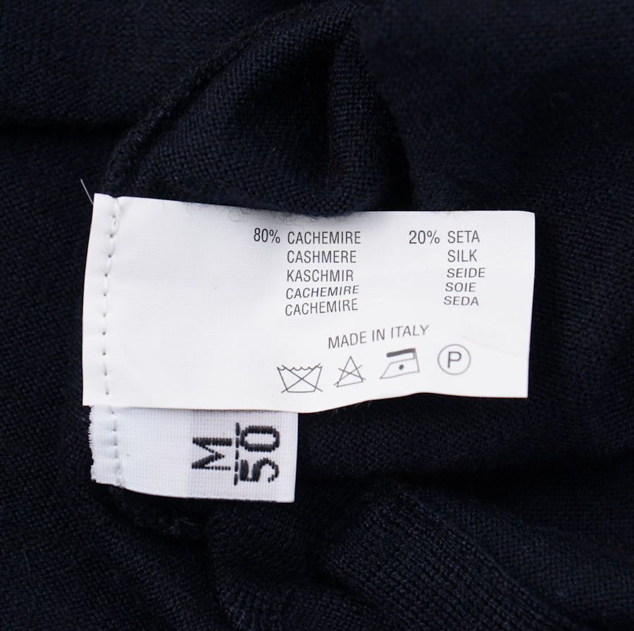 Kiton Navy Cashmere-Silk Polo Sweater - Top Shelf Apparel