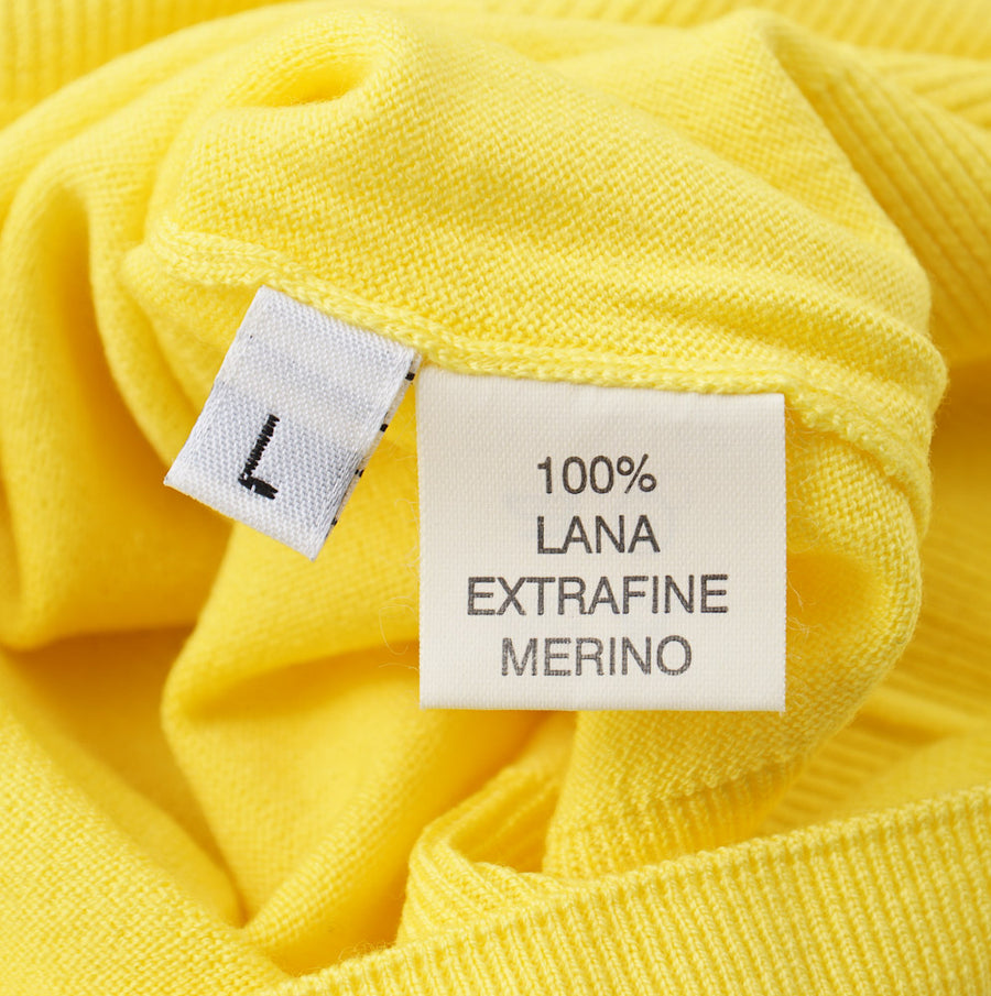 Kiton Lemon Yellow Merino Wool Sweater - Top Shelf Apparel
