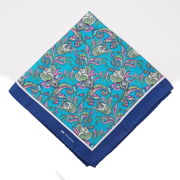 Kiton Floral Print Silk Pocket Square - Top Shelf Apparel
