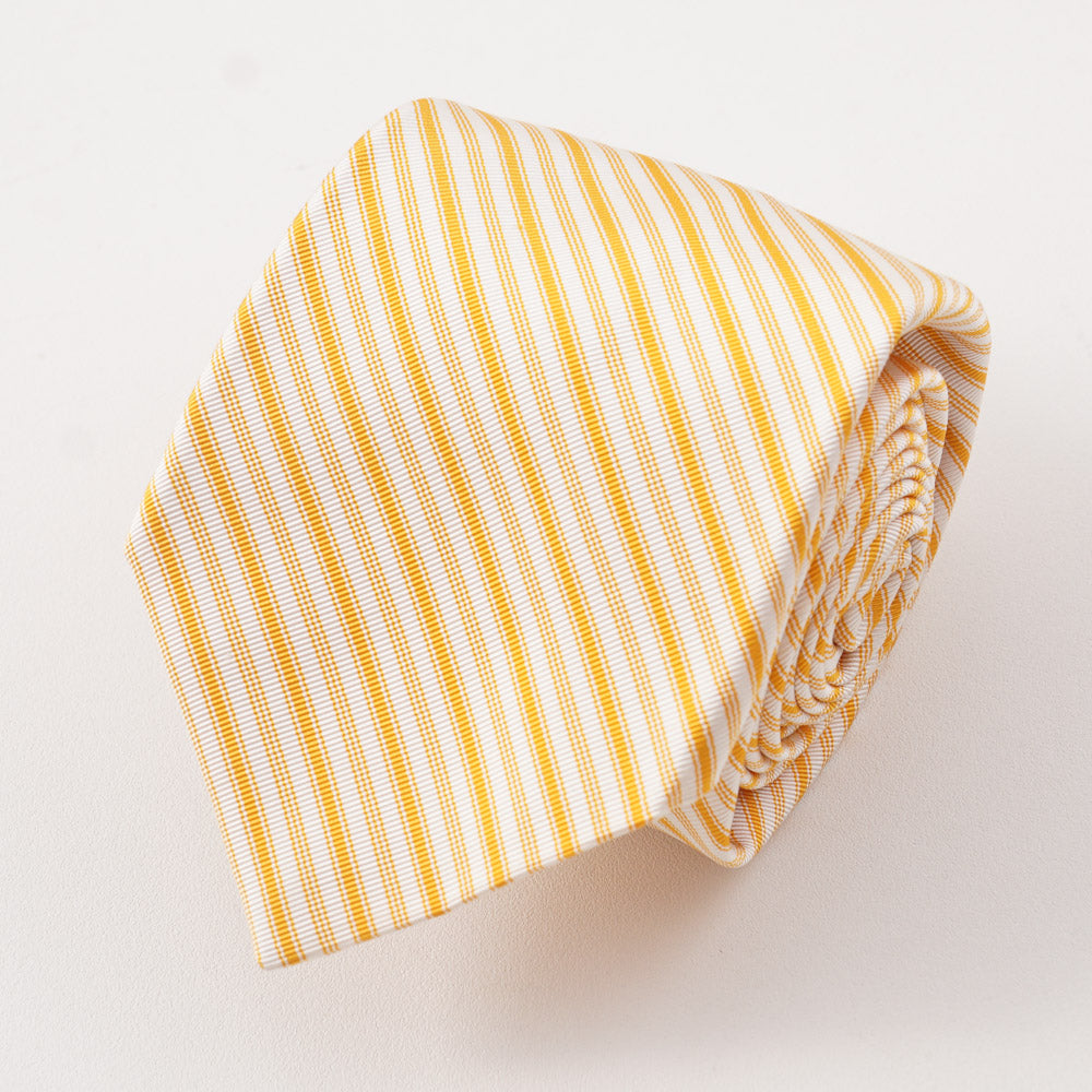 c5bc7e85508b44 Kiton Golden Yellow Ribbon Stripe Silk Necktie – Top Shelf Apparel