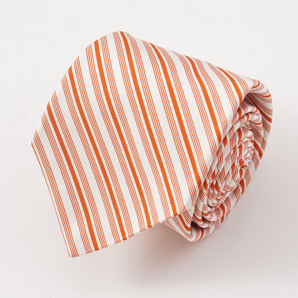 6826f7f98d21f5 Kiton Orange Ribbon Stripe Silk Necktie – Top Shelf Apparel