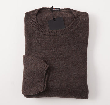 Kiton Solid Brown Regal Cashmere Sweater