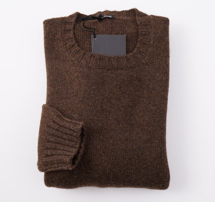 Kiton Chocolate Regal Cashmere Sweater