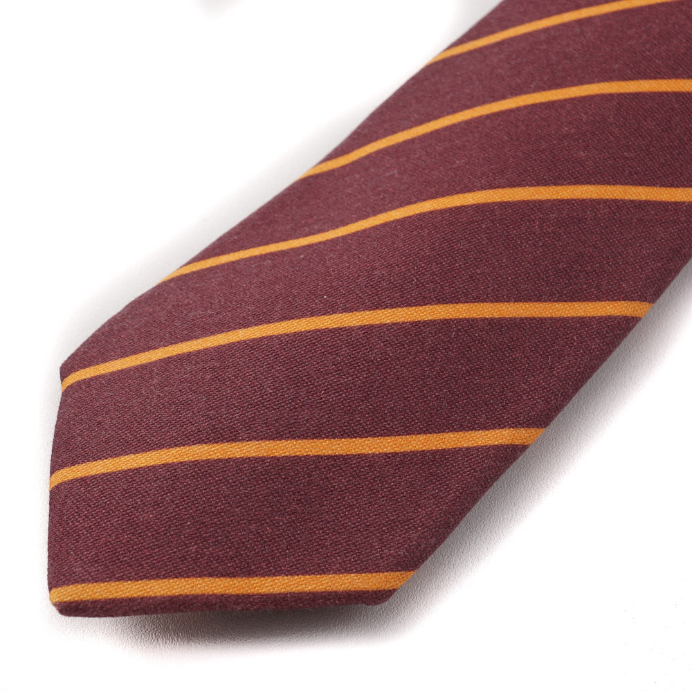 366219d15b2ef4 Kiton Burgundy and Orange Striped Wool Tie – Top Shelf Apparel