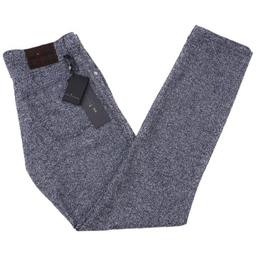 Kiton Slim Fit Five-Pocket Boucle Wool Pants