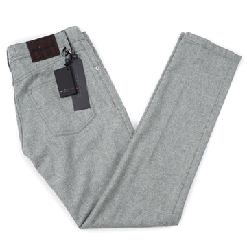 Kiton Slim Fit Five-Pocket Flannel Wool Pants - Top Shelf Apparel