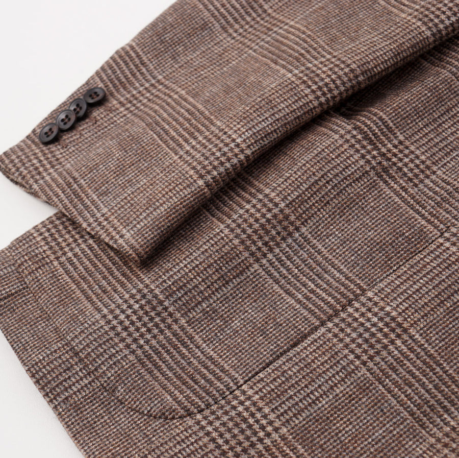 Kiton Heather Brown Check Cashmere Sport Coat - Top Shelf Apparel