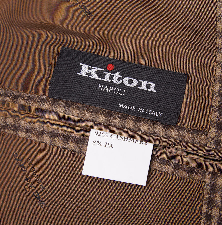 Kiton Brown Check Cashmere Sport Coat - Top Shelf Apparel