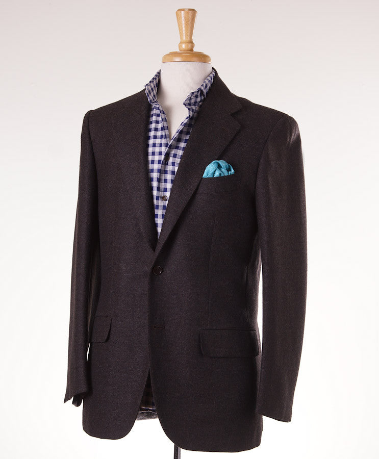 Kiton Chocolate Brown Wool Sport Coat Eu 50/US 40R - Top Shelf Apparel