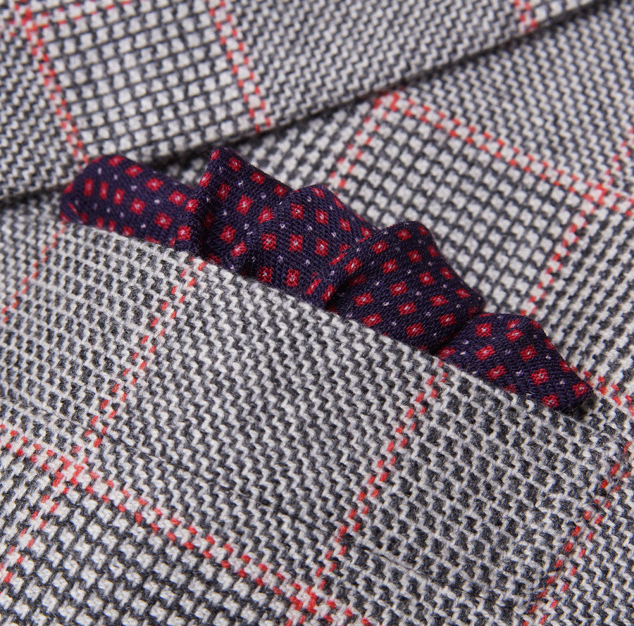 Kiton Gray-Pink Check Cashmere Sport Coat - Top Shelf Apparel