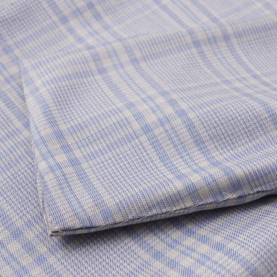 Kiton Pale Blue Check Lightweight Cashmere Sport Coat - Top Shelf Apparel