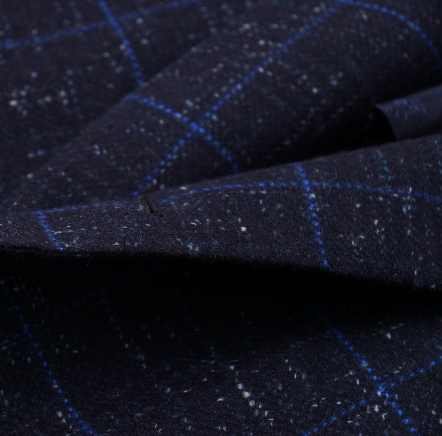 Kiton Blue Melange Check Cashmere Sport Coat - Top Shelf Apparel
