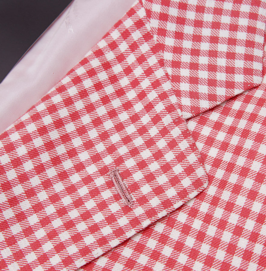 Kiton Gingham Check Cashmere-Linen-Vicuna Sport Coat - Top Shelf Apparel - 4