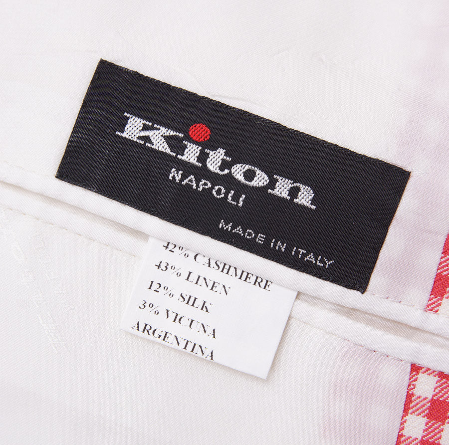 Kiton Gingham Check Cashmere-Linen-Vicuna Sport Coat - Top Shelf Apparel - 8