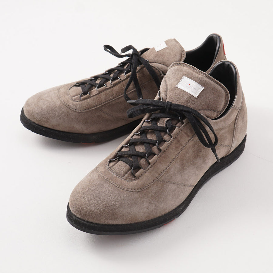 Kiton Low-Top Sneaker in Gray-Beige Suede - Top Shelf Apparel