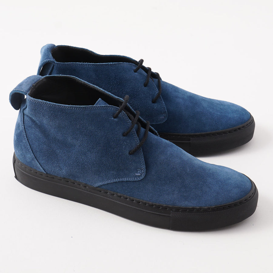 Kiton Suede Chukka Sneaker in Marine Blue - Top Shelf Apparel