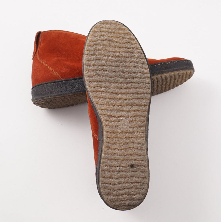 Kiton Suede Chukka Sneaker in Rust Orange - Top Shelf Apparel