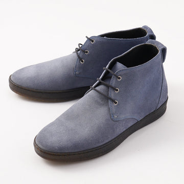 Kiton Suede Chukka Sneaker in Slate Blue - Top Shelf Apparel