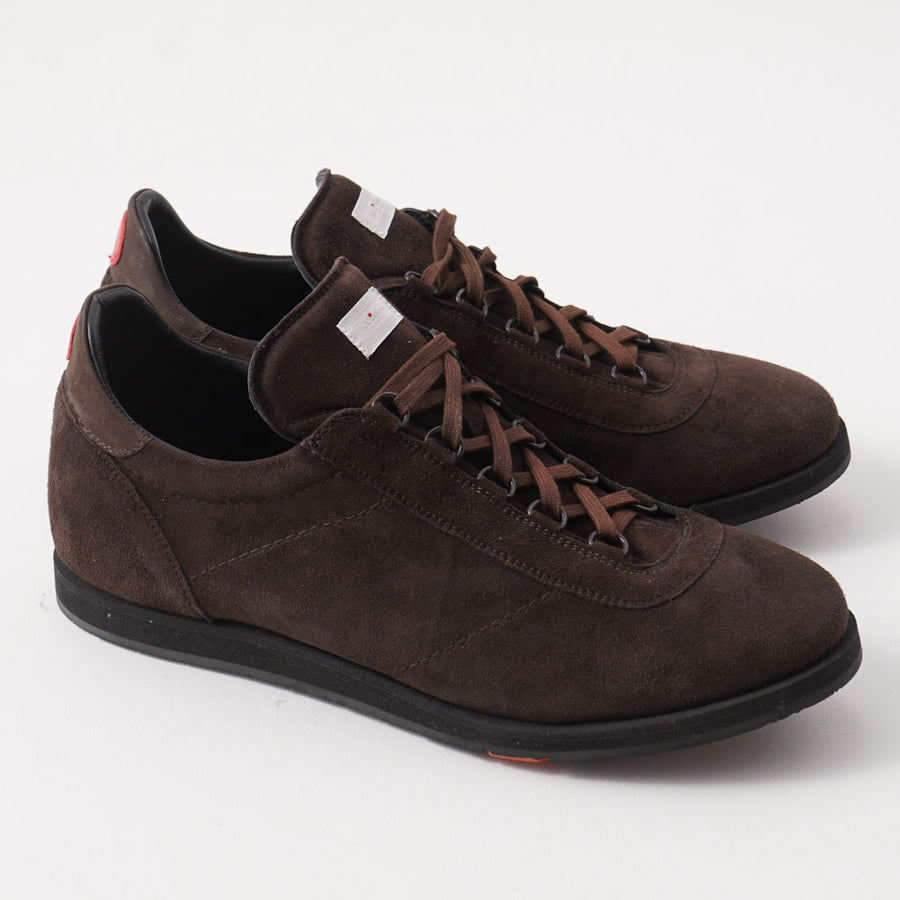 Kiton Low-Top Sneaker in Chocolate Brown Suede
