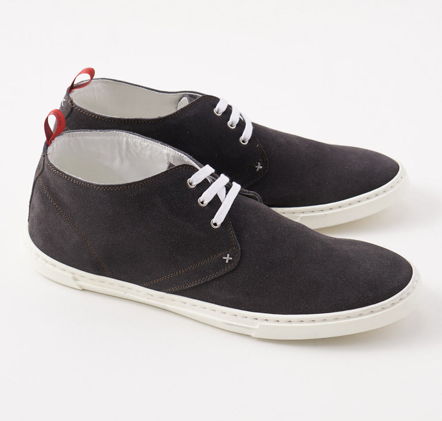 Kiton Lightweight Chukka Sneaker in Charcoal Suede - Top Shelf Apparel