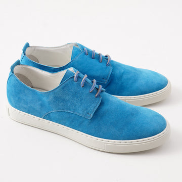 Kiton Low-Top Sneaker in Turquoise Suede - Top Shelf Apparel