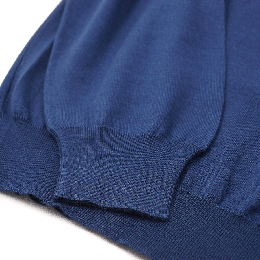 Kiton Lightweight Cashmere-Silk Sweater in Blue
