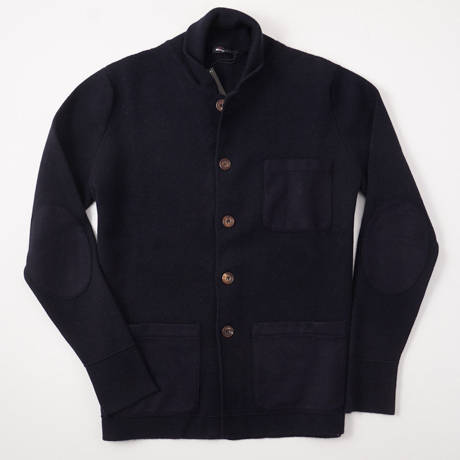 Kiton Navy Blue Regal Cashmere Cardigan Sweater - Top Shelf Apparel