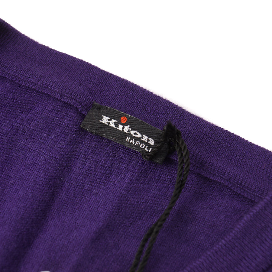 Kiton Lightweight Cashmere-Silk Sweater in Purple - Top Shelf Apparel
