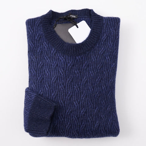 76c2dd3046913 Kiton Blue Cable Knit Cashmere Sweater – Top Shelf Apparel