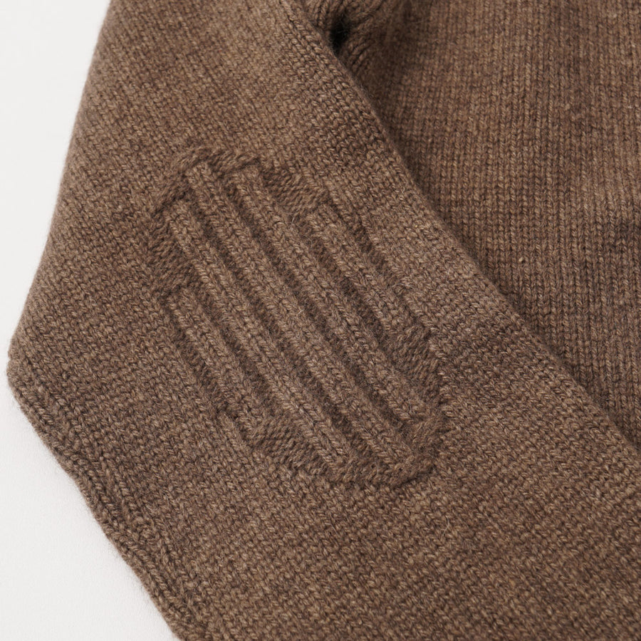 Kiton Brown and Orange Regal Cashmere Sweater