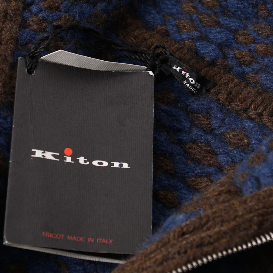Kiton Cable Knit Regal Cashmere Sweater