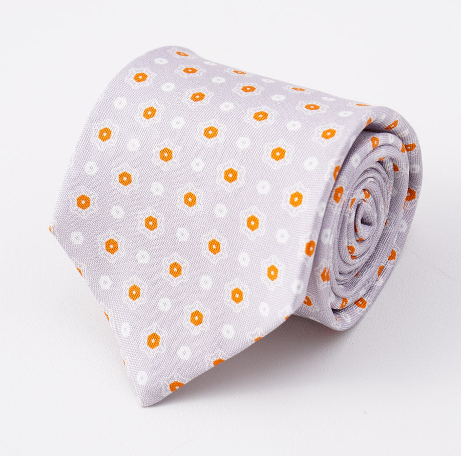 b4dbc7143bb527 Kiton Lavender-Orange Medallion Print Silk Tie – Top Shelf Apparel