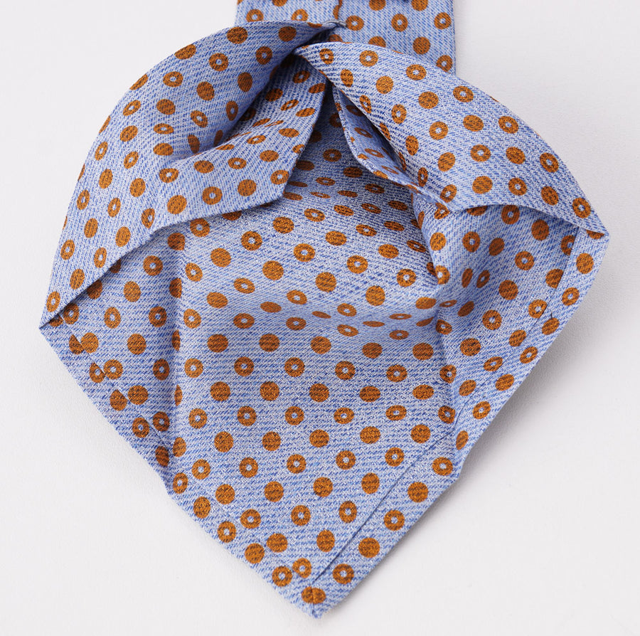 Kiton Printed Linen and Silk Tie