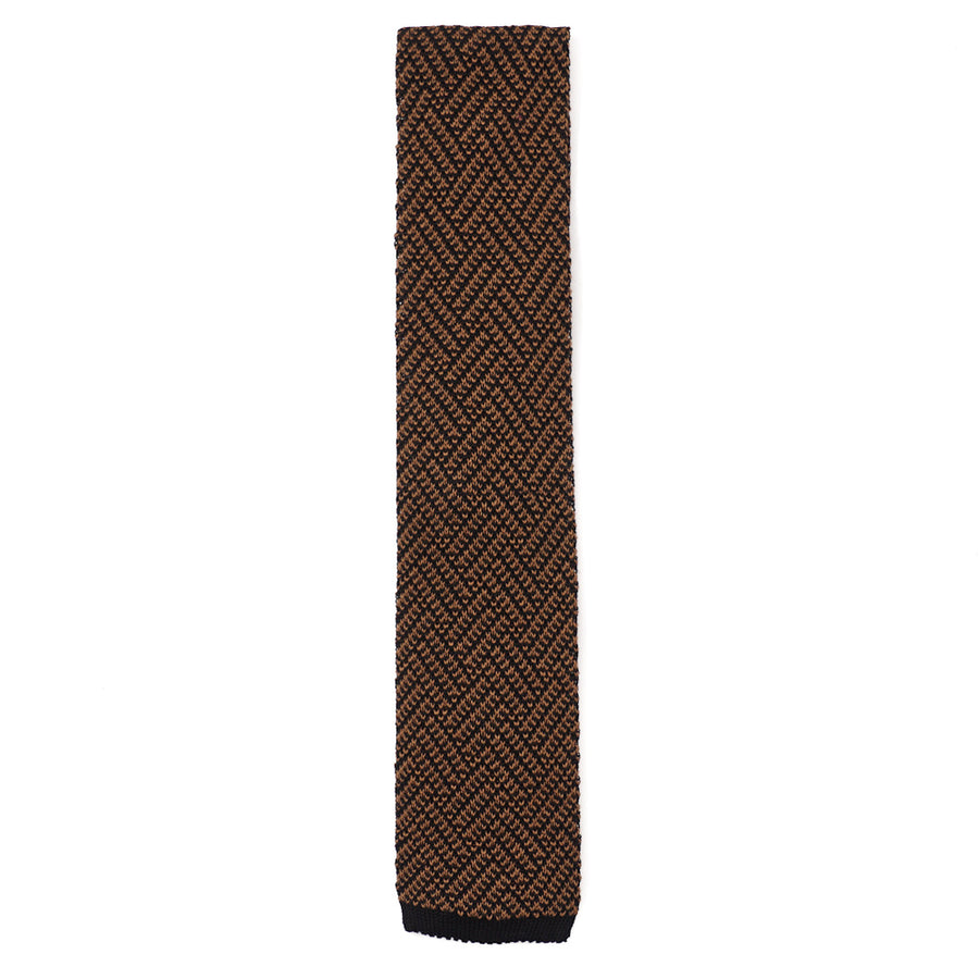 Isaia Patterned Knit Cotton Tie