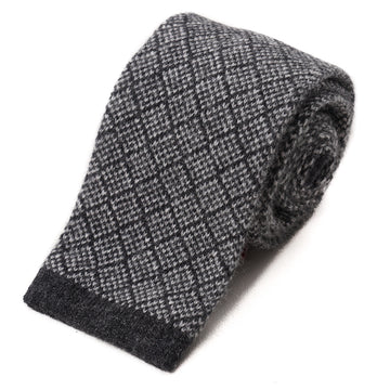 Isaia Jacquard Knit Cashmere Tie