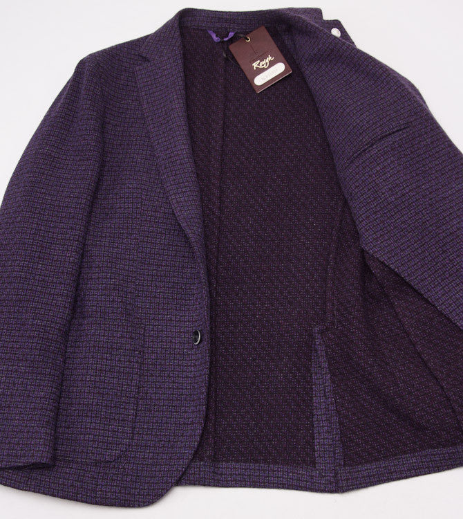 Luigi Bianchi Plum Wool Sport Coat 40 R - Top Shelf Apparel - 9