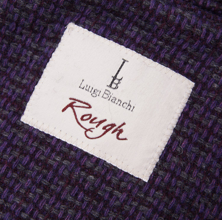 Luigi Bianchi Plum Wool Sport Coat 40 R - Top Shelf Apparel - 10