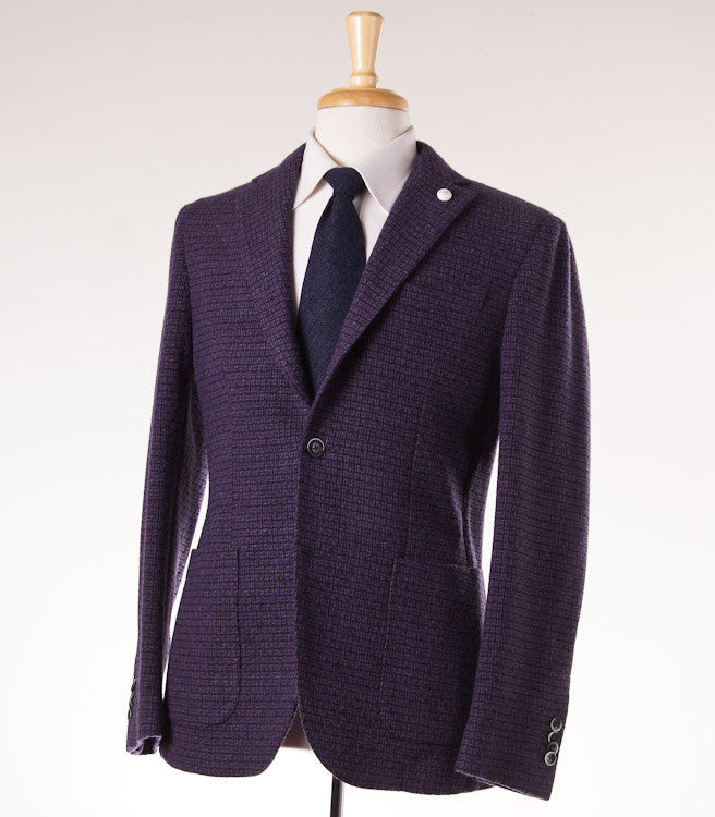 Luigi Bianchi Plum Wool Sport Coat 40 R - Top Shelf Apparel - 1