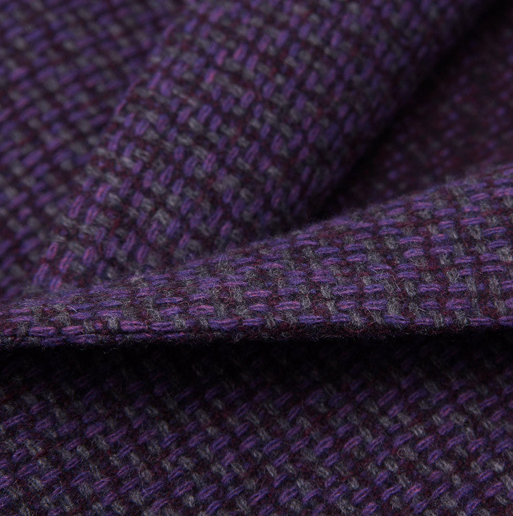 Luigi Bianchi Plum Wool Sport Coat 40 R - Top Shelf Apparel - 2