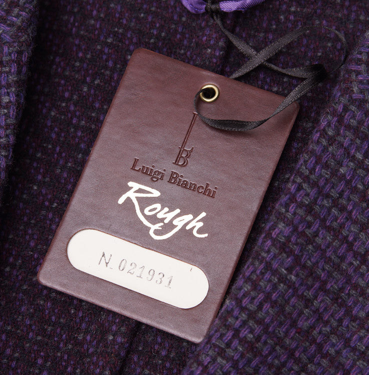 Luigi Bianchi Plum Wool Sport Coat 40 R - Top Shelf Apparel - 4