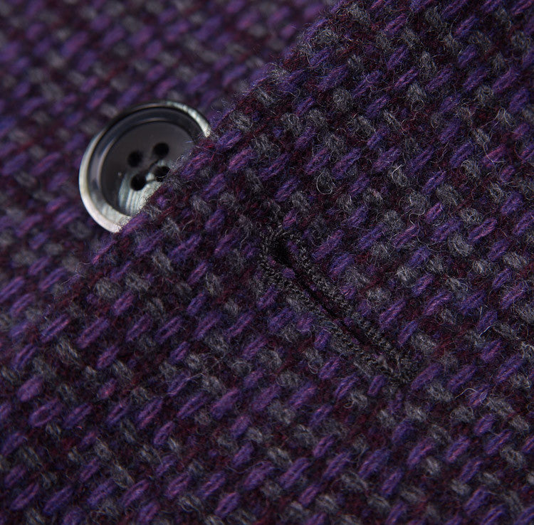 Luigi Bianchi Plum Wool Sport Coat 40 R - Top Shelf Apparel - 6