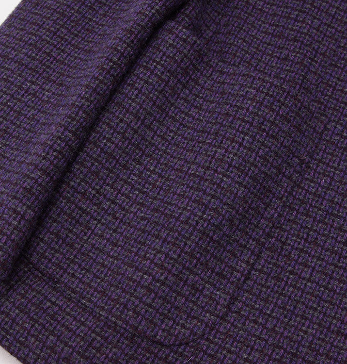Luigi Bianchi Plum Wool Sport Coat 40 R - Top Shelf Apparel - 8